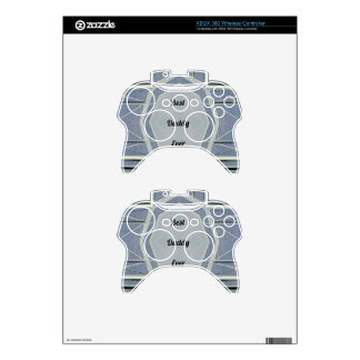 """Hip Modern Gray """"Best Daddy Ever"""" Xbox 360 Controller Skins"""