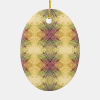 Hip modern Neutral Pastel Abstract Pattern Ceramic Ornament