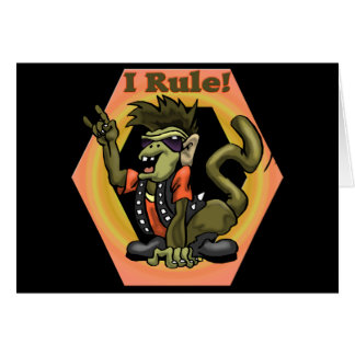 Hip Monkeys Rule Funny T-shirts Gifts Greeting Card