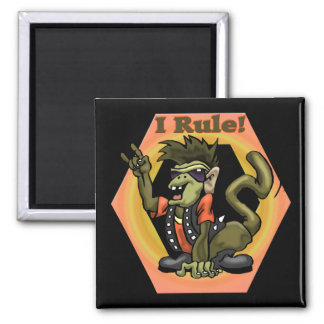 Hip Monkeys Rule Funny T-shirts Gifts 2 Inch Square Magnet