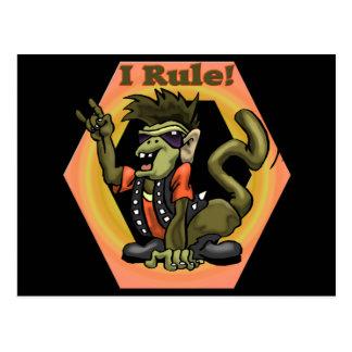 Hip Monkeys Rule Funny T-shirts Gifts Postcard