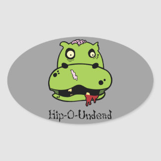 Hip-O Undead Oval Sticker