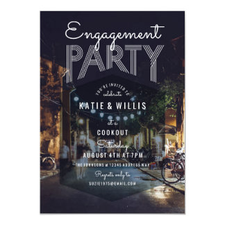 Hip Outdoor Event Party Invitation