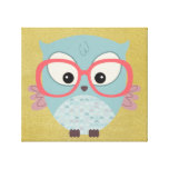 Hip Owl Gallery Wrapped Canvas