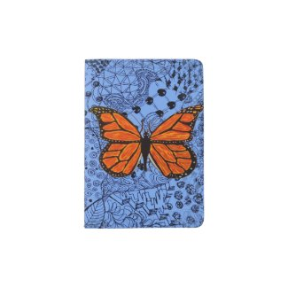 Hip Passport Holder with Monarch Butterfly