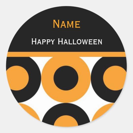 Hip Peronalized Halloween Sticker