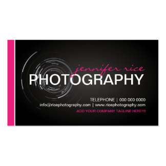 Hip PInk and Black Photographer Business Cards