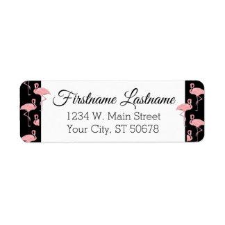 Hip Pink Flamingoes Pattern Label