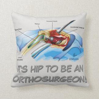 Hip Replacement Infographic pillow (grey text) Pillows