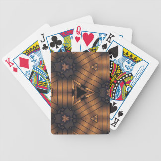 Hip Shades of brown connections Pattern Bicycle Playing Cards