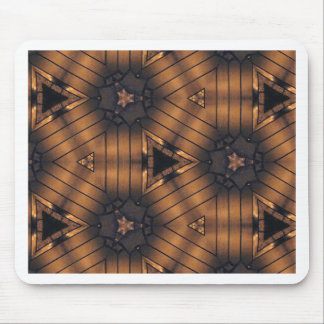 Hip Shades of brown connections Pattern Mouse Pad
