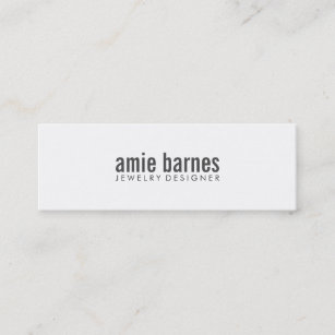 Hip business cards zazzle hip simple and bold black and white mini business card colourmoves