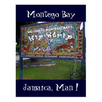 hip strip jamaica postcard