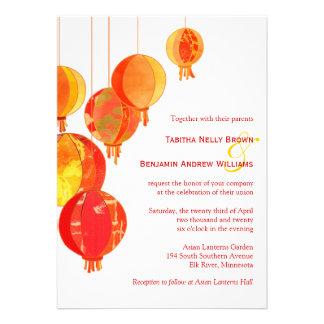 Hip, Stylish Asian Lanterns Wedding Invitations