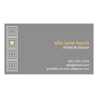 Hip to be square grey and yellow business card