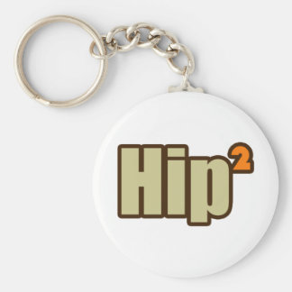 Hip to be Squared the nerdy way Basic Round Button Keychain