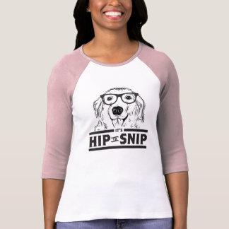 Hip to Snip Doggie Ladies 3/4 Sleeve Raglan Tee