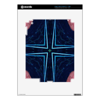 Hip Trendy Abstract Star Cross Pattern Skins For iPad 2