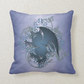 Hip Urban Fantasy Blue Griffin Pillow