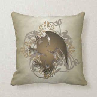 Hip Urban Fantasy Gold Griffin Pillow