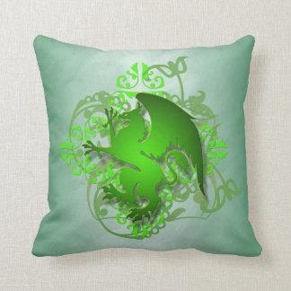 Hip Urban Fantasy Green Griffin Pillow