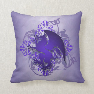 Hip Urban Fantasy Purple Griffin Pillow