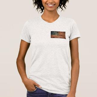 hip vintage american usa flag women t-shirt design