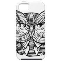 Hip Wise Owl Suit Woodcut iPhone SE/5/5s Case