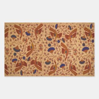 Hip wrapper Kain Panjang Pattern Rectangular Sticker