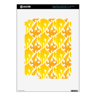 Hip Yellow Flames pattern Skins For iPad 3