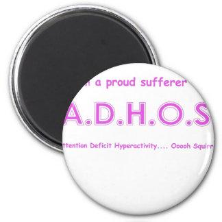 Hiperactividad del déficit de atención…. ardilla d imán redondo 5 cm