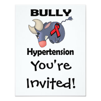 """Hipertensión del matón invitación 4.25"""" x 5.5"""""""