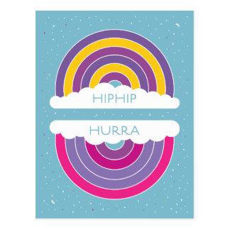 Hiphip Hurra Tarjeta Postal