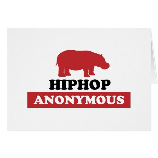 HipHop Anonymous Greeting Card