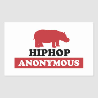 HipHop Anonymous Rectangle Sticker