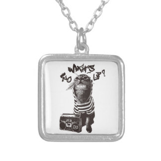 HIPHOP CAT PERSONALIZED NECKLACE