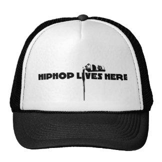 hiphop vive aquí gorras de camionero