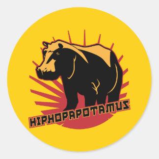 hiphopapotamus rhymenocerous classic round sticker