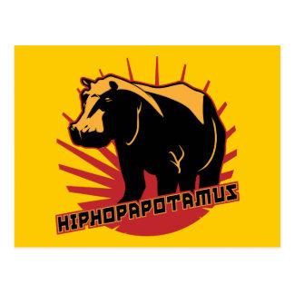 hiphopapotamus rhymenocerous postcard