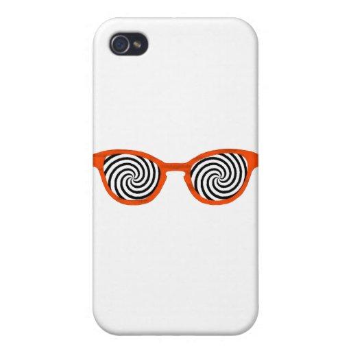 Hipnotice el borde anaranjado de las gafas de sol  iPhone 4 carcasas