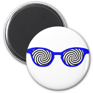 Hipnotice el borde azul de las gafas de sol el sol iman de frigorífico