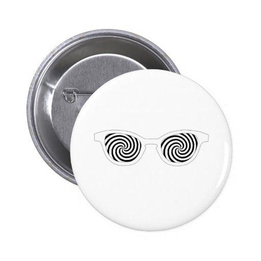 Hipnotice el borde blanco de las gafas de sol el M Pin Redondo 5 Cm