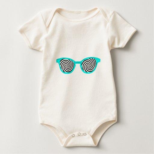 Hipnotice el borde ciánico de las gafas de sol el body para bebé