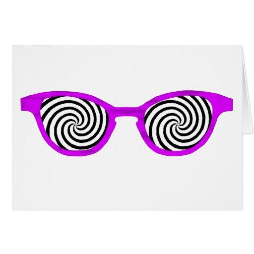 Hipnotice el borde púrpura de las gafas de sol el  tarjetón