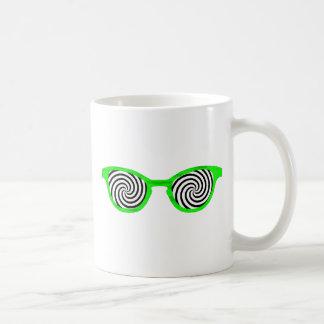 Hipnotice el borde verde de las gafas de sol el MU Tazas