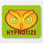 Hipnotice el búho Mousepad Alfombrilla De Ratones