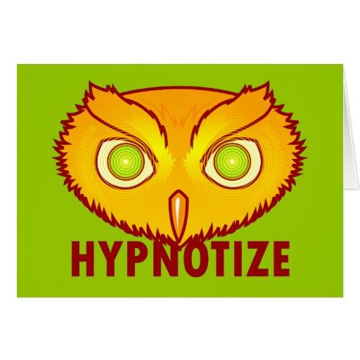 Hipnotice la tarjeta de felicitación del búho