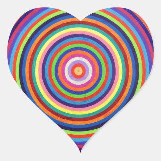 Hipnótico Pegatina En Forma De Corazón