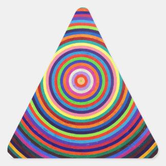 Hipnótico Pegatina Triangular