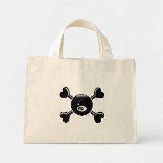 Hipnotismo de la bandera pirata bolsas lienzo